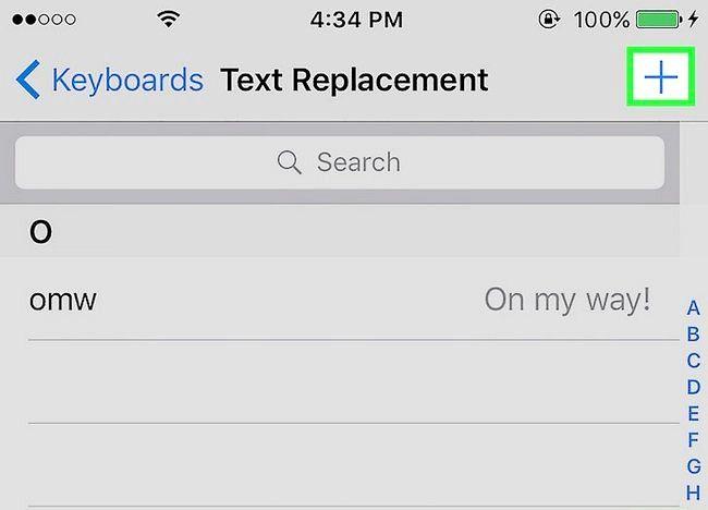 चित्र शब्द iPhone शब्दकोष में जोड़ें शब्द चरण 5