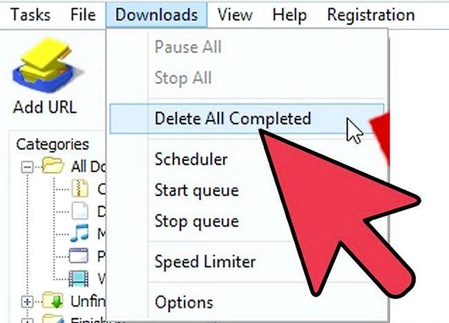 इंटरनेट डाउनलोड प्रबंधक (IDM) चरण 4 का इस्तेमाल करते समय स्पीड अप डाउनलोड करते हुए चित्र शीर्षक