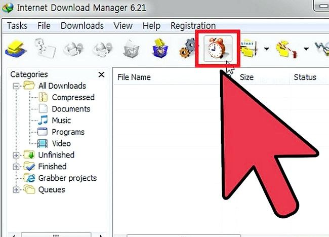 इंटरनेट डाउनलोड प्रबंधक (IDM) चरण 6 का प्रयोग करते समय स्पीड अप डाउनलोड करते हुए चित्र शीर्षक