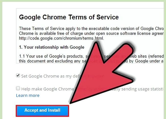चित्र डाउनलोड करें और Google क्रोम को स्थापित करें चरण 4
