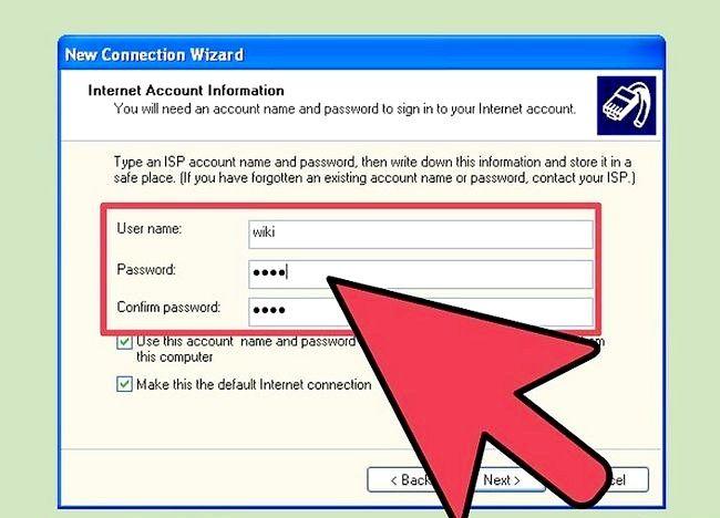 डायल अप इंटरनेट कनेक्शन चरण 12 को शीर्षक वाला चित्र