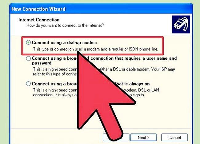 डायल अप इंटरनेट कनेक्शन चरण 9 के शीर्षक से चित्र