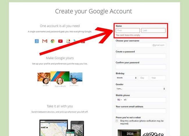 चित्र का नाम एक ईमेल पता सेट करें चरण 3