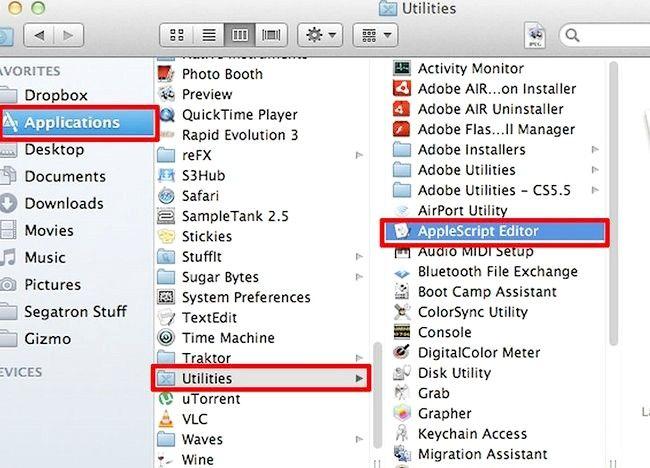 AppleScript में एक प्रोग्राम कैसे बनाएं