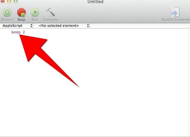 AppleScript चरण 5 बुलेट 2 में एक प्रोग्राम बनाएं शीर्षक वाला चित्र