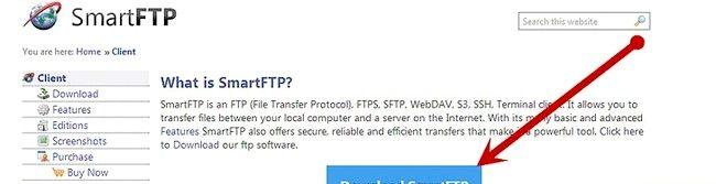 SmartFTP का उपयोग कर किसी एफ़टीपी सर्वर पर फाइल कैसे भेजनी है