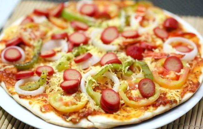 एक स्वस्थ पिज्जा पहचान बनाएं शीर्षक वाला चित्र