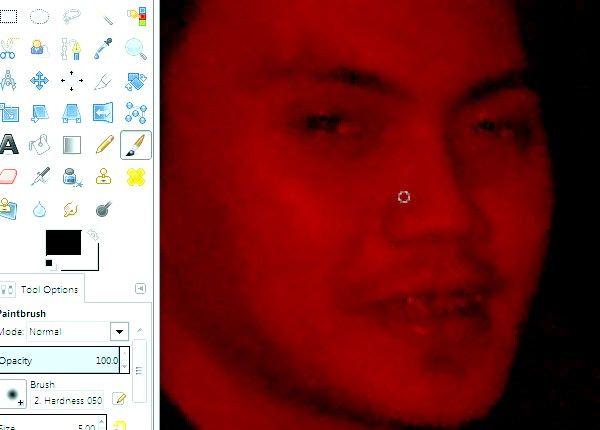जीआईएमपी चरण 8 का उपयोग कर फ़ोटो पर रेड आइज़ शीर्षक वाले चित्र