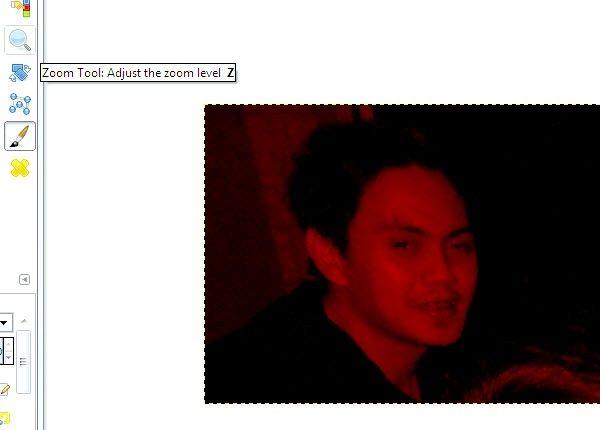 जीआईएमपी चरण 9 का उपयोग कर फ़ोटो पर रेड आइज़ Reduces चित्र