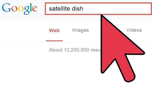 चित्र का प्रयोग उपग्रह इंटरनेट चरण 4 का उपयोग करें
