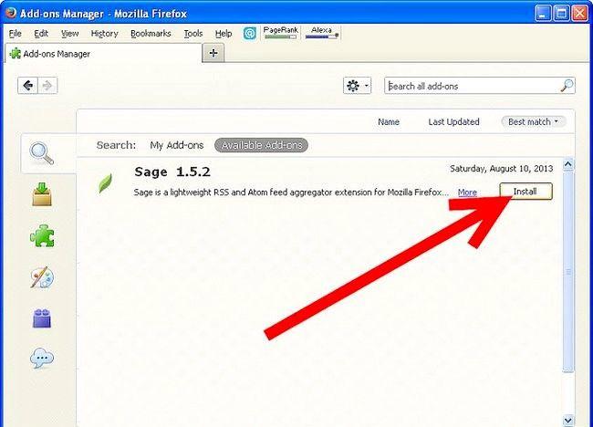 फ़ायरफ़ॉक्स में बाबा आरएसएस रीडर का उपयोग कैसे करें