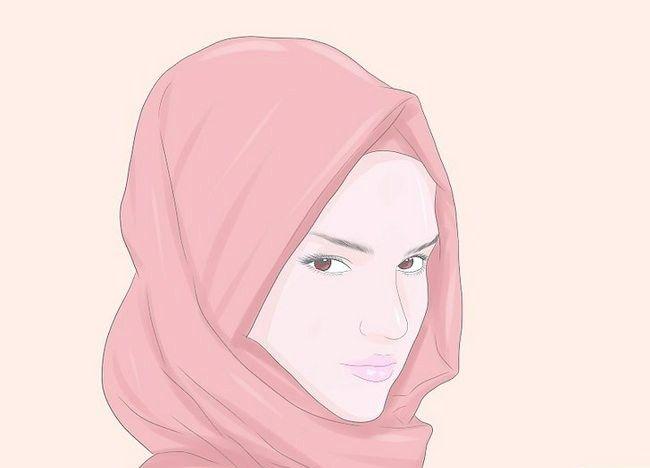 चित्र पहने हुए एक हिजाब चरण 3