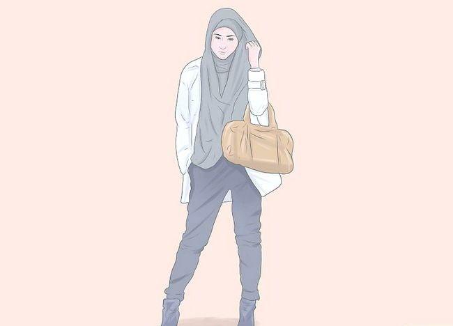 चित्र पहने हुए एक हिजाब चरण 7