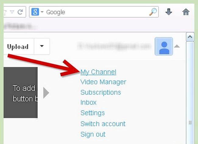 आपका यूट्यूब प्रोफाइल पृष्ठभूमि चरण 2 के रूप में एक चित्र का प्रयोग करें शीर्षक वाला चित्र